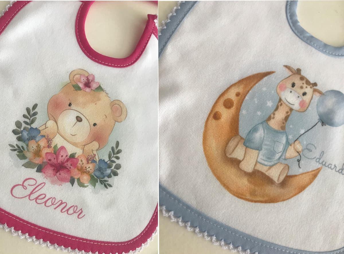 babetes personalizado, presente para um bebé