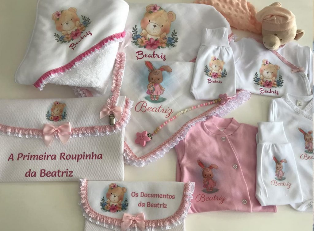enxovais personalizados para bebé tandigitalprint